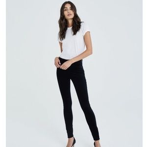 AG The Farrah Super Black High Rise Skinny Jeans